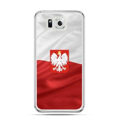 Etui na telefon Galaxy Alpha patriotyczne - flaga Polski z godłem