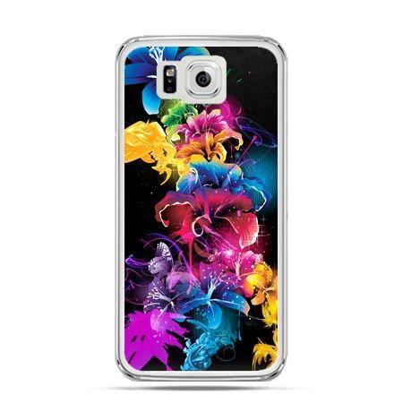 Galaxy Alpha etui kolorowe kwiaty