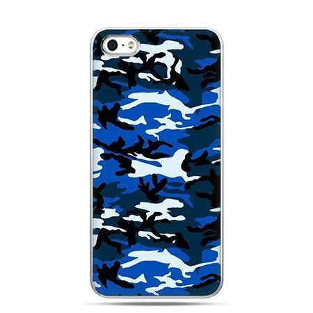 Etui na telefon niebieskie moro.