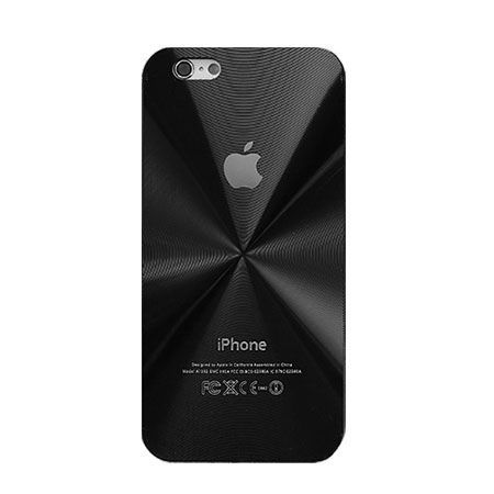 iPhone 4, 4s czarne plecki aluminiowe efekt cd.