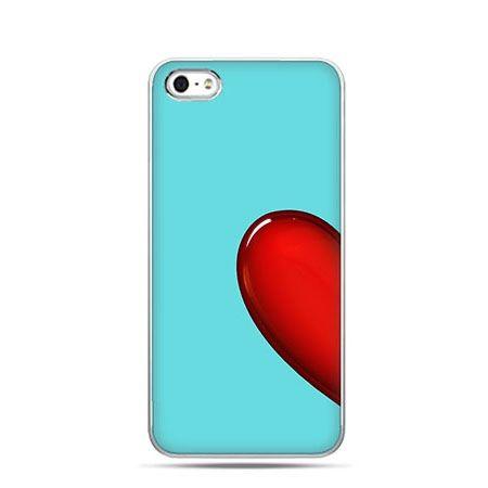 Niebieskie serce etui na walentynki.