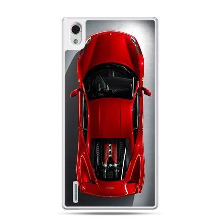 Huawei P7 etui czerwone Ferrari