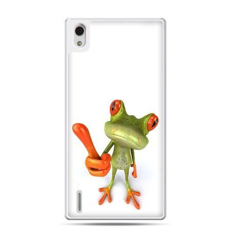 Huawei P7 etui śmiesznaq żaba