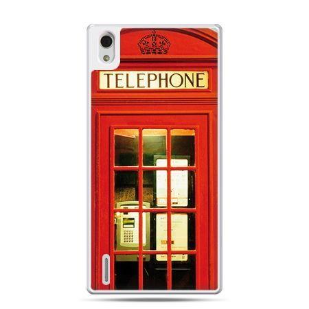 Huawei P7 etui czerwona budka telefoniczna