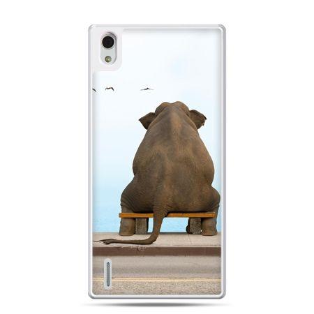 Huawei P7 etui zamyślony słoń