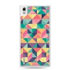 Huawei P7 etui kolorowe trójkąty