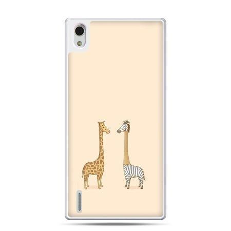 Huawei P7 etui żyrafy