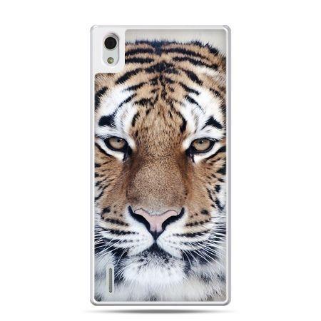 Huawei P7 etui śnieżny tygrys