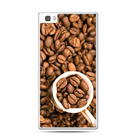 Huawei P8 etui kubek z kawą