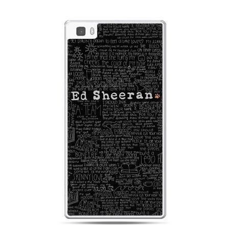 Huawei P8 etui ED Sheeran czarne poziome