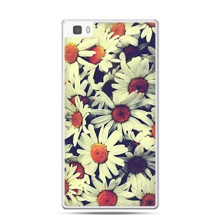 Huawei P8 etui stokrotki