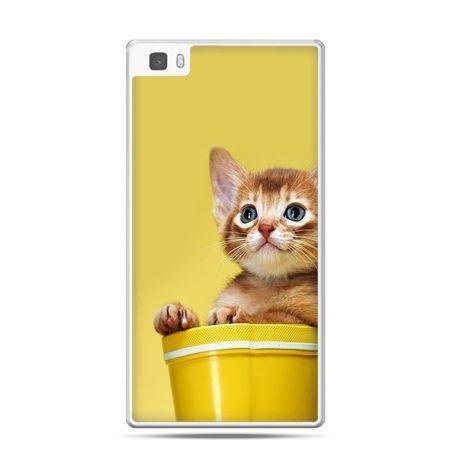 Huawei P8 etui kot w doniczce
