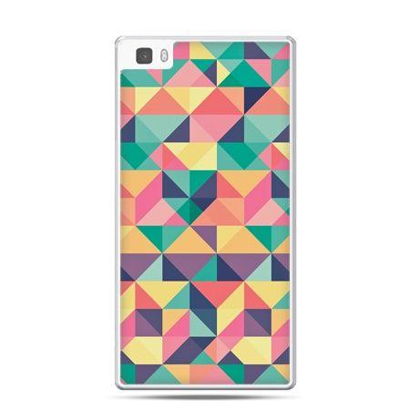 Huawei P8 etui kolorowe trójkąty