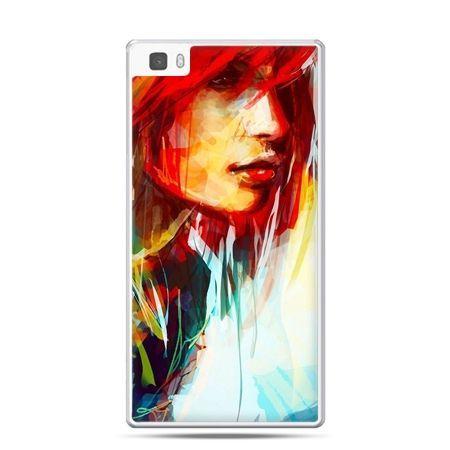 Huawei P8 etui kobieta akwarela