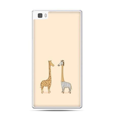 Huawei P8 etui żyrafy