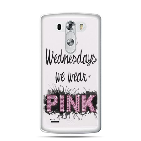 LG G4 etui z napisem pink