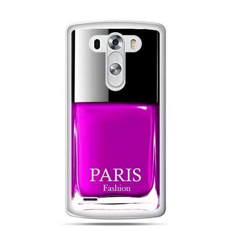 LG G4 etui lakier do paznokci różowy