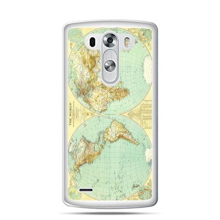 LG G4 etui mapa świata