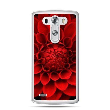 LG G4 etui czerwona dalia