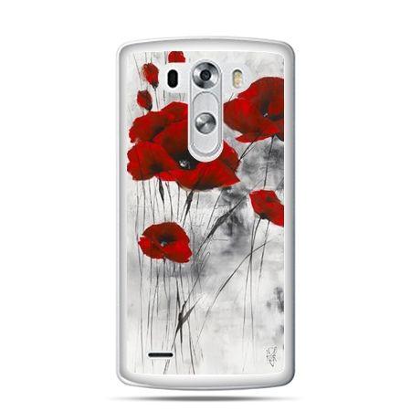 LG G4 etui na telefon czerwone maki