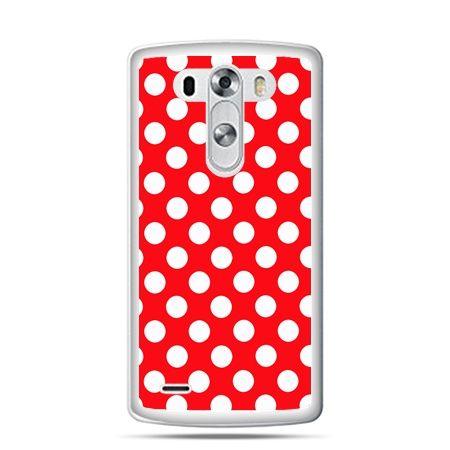 LG G4 etui czerwona polka dot
