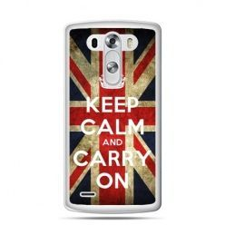 LG G4 etui Keep calm and carry on