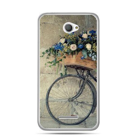 Xperia E4 etui rower z kwiatami