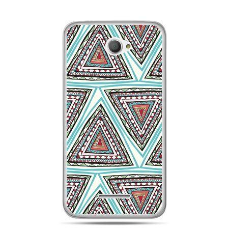 Xperia E4 etui Azteckie trójkąty