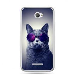 Xperia E4 etui kot hipster w okularach