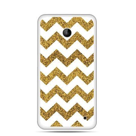 Nokia Lumia 630 etui złoty zig zag