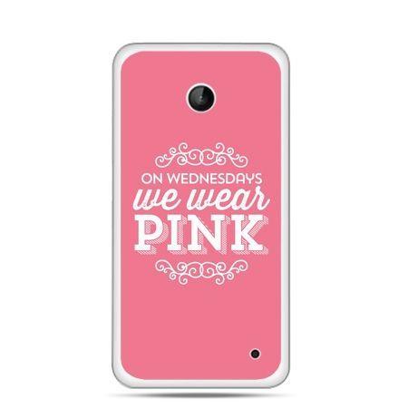 Nokia Lumia 630 etui różowe z napisem