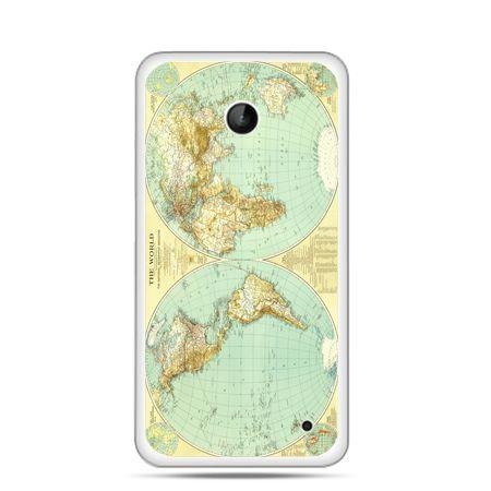 Nokia Lumia 630 etui mapa świata