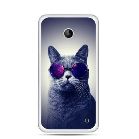 Nokia Lumia 630 etui kot hipster w okularach