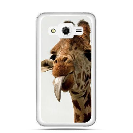 Etui na Galaxy Core 2 żyrafa z językiem