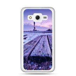Etui na Galaxy Core 2 Latarnia morska zmierzch