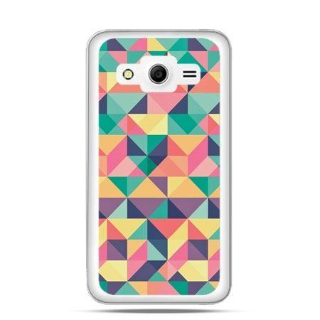 Etui na Galaxy Core 2 Kolorowe trójkąty