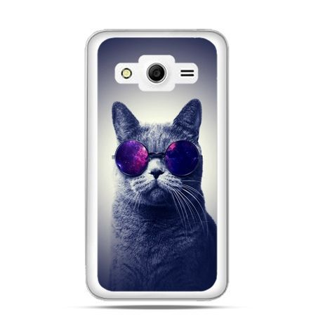 Etui na Galaxy Core 2 Kot hipster w okularach
