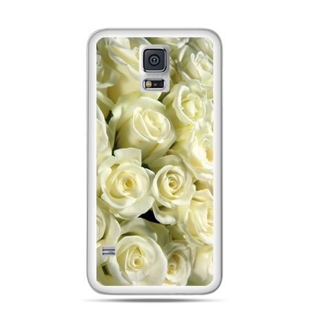 Samsung Galaxy S5 mini Białe róże