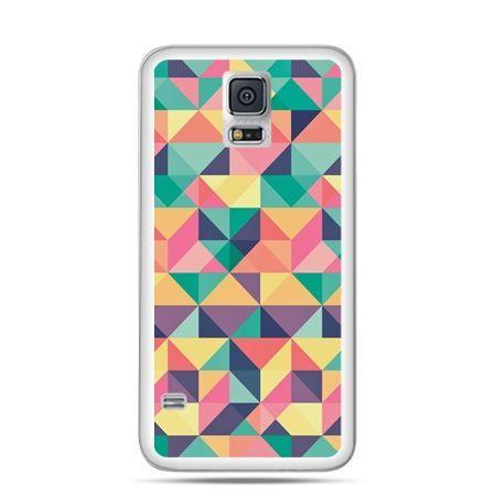 Etui na Samsung Galaxy S5 mini Kolorowe trójkąty