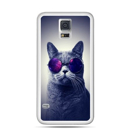 Etui na Samsung Galaxy S5 mini Kot hipster w okularach