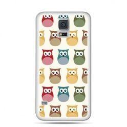 Etui na Samsung Galaxy S5 mini Kolorowe sowy