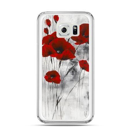 Etui na telefon Galaxy S6 Edge Czerwone maki