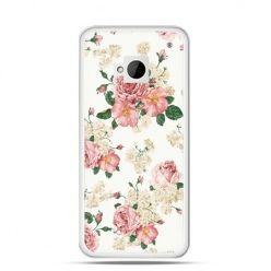 Etui na HTC One M7 Polne kwiaty