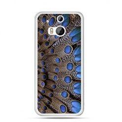 Etui na HTC One M8 Niebieskie pióra