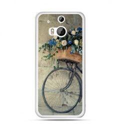Etui na HTC One M8 Rower z kwiatami