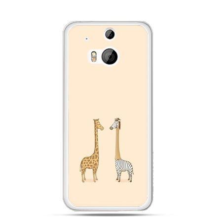 Etui na HTC One M8 żyrafy