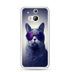 Etui na HTC One M8 Kot hipster w okularach