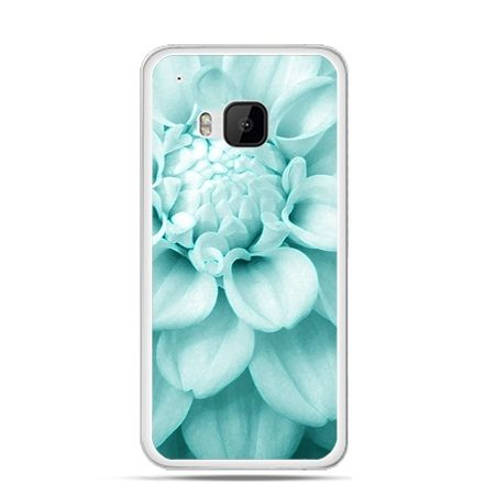 Etui na HTC One M9 Niebieski kwiat dalii