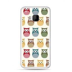 Etui na HTC One M9 Kolorowe sowy