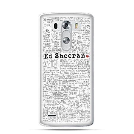Etui na LG G3 Ed Sheeran białe poziome